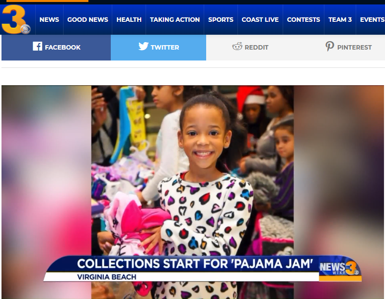 PJJ featured on WTKR News Channel 3 11-07-18 – Pajama Jams